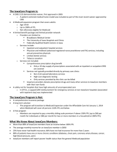 IowaCare Fact Sheet - Iowa Primary Care Association