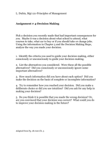 Assignment4 Decision Making