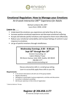 Emotional Regulation - Envision Counseling, LLC