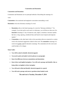 Connotation/Denotation Study Guide