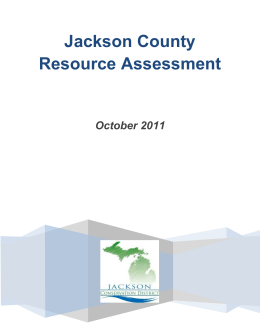 2011 Jackson Resource Assessment Report