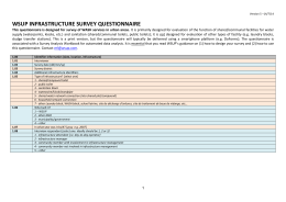 wsup infrastructure survey questionnaire