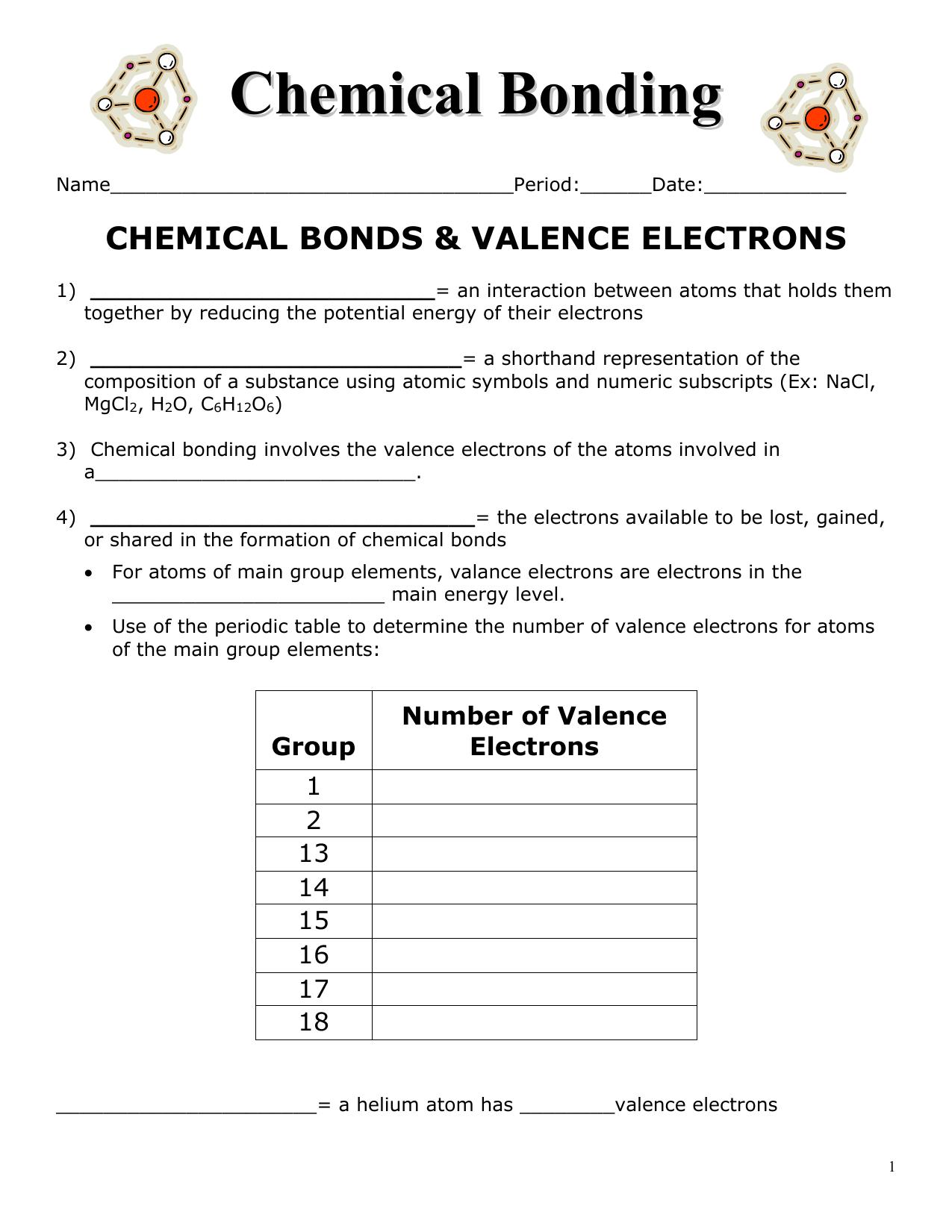 100 bonding basics worksheet solid works tutorials beginner surface design chemical. Black Bedroom Furniture Sets. Home Design Ideas