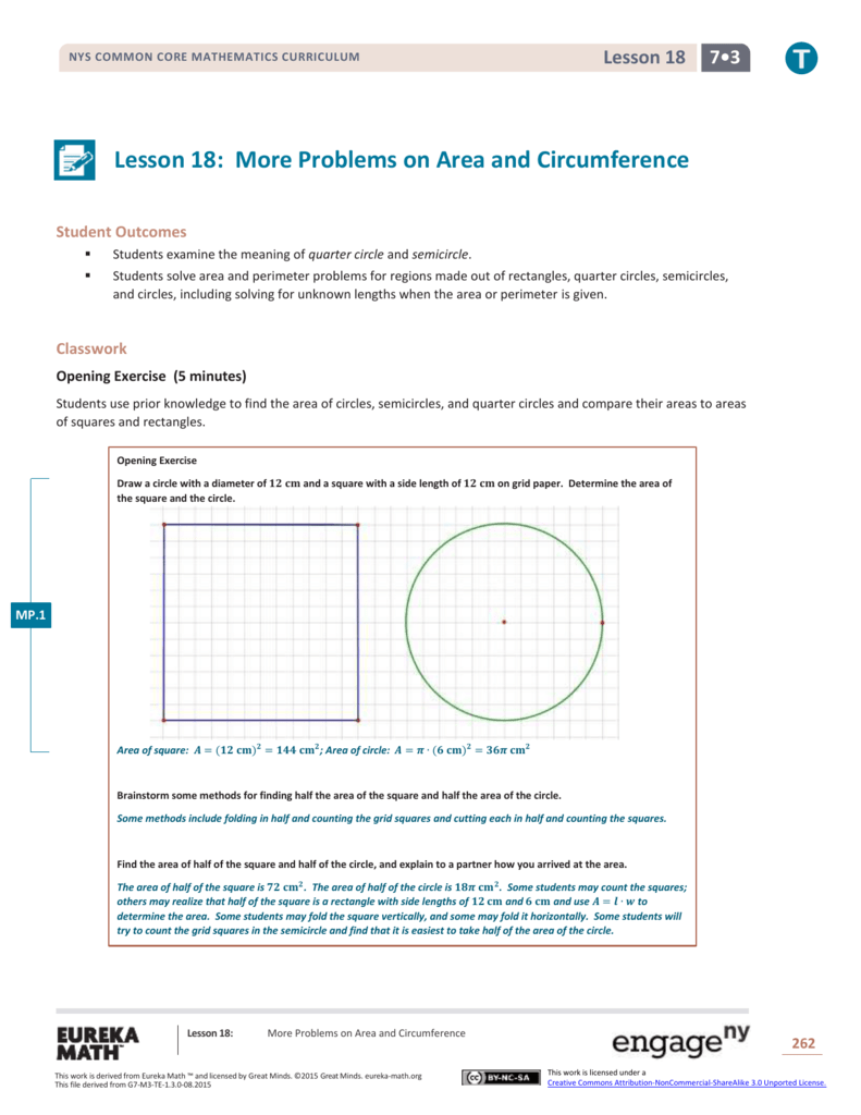 lesson 9-8 problem solving circles and circumference