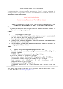 Special Agromet bulletin for Cyclone NILAM
