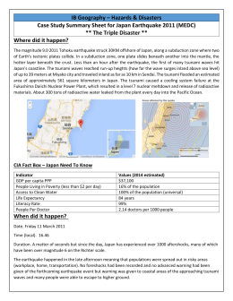 japan earthquake 2011 case study sheet