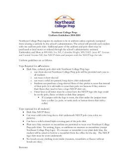 Northeast College Prep: Uniform Guidelines 2014