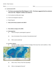 Plate Tectonics notes