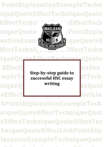 Step-by-step guide to successful HSC essay writing