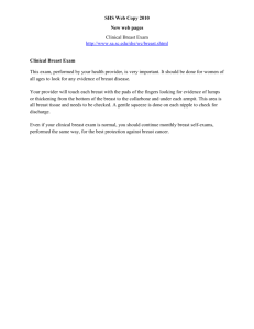 SHS Web Copy 2010 New web pages Clinical Breast Exam http