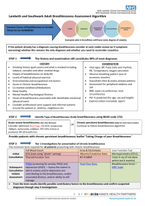 Lambeth and Southwark Adult Breathlessness Assessment Algorithm