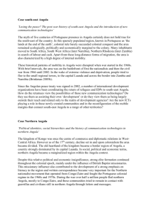 Case studies Southeast and North Angola
