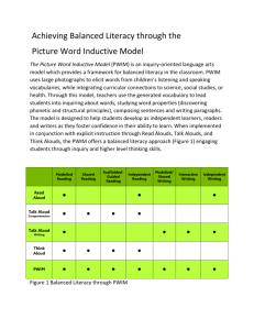 Achieving Balanced Literacy through the Picture Word Inductive Model