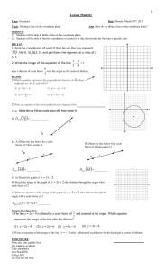 Geometry Fall 2014 Lesson 067 _Dilating lines_ dividing lines on