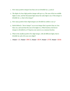 divisibility word problems