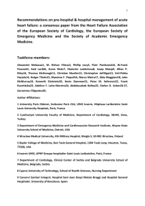 Consensus recommendation on pre-hospital & initial management