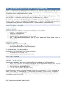 See our handout on Classroom Access Personnel [doc]