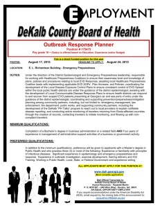 Outbreak Response Planner - DeKalb County Board of Health