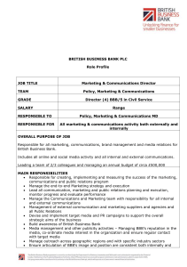 Role profile - British Business Bank