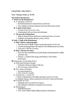 CHAPTER 1 SECTION 5 Note Taking Study Guide, p. 43 Thinkers of