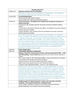 complete conference agenda - Alliance of Independent Academic