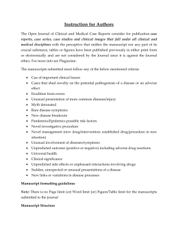 Submission Guidelines - Open Journal of Clinical and Medical Case