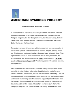 AMERICAN SYMBOLS PROJECT Due Date: Friday, November 14