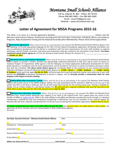 15-16 Letter of Agreement - Montana Small Schools Alliance