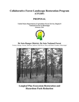 Longleaf Pine Ecosystem Restoration and Hazardous Fuels Reduction