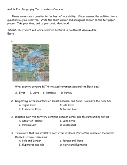 7th grade crct study guide southwest asia middle east test on level lanter 2014 publicscrutiny Images