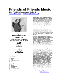 `Dead` LP - Friends of Friends