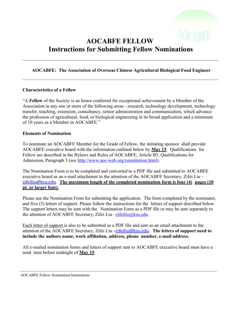 aocabfe fellow nomination instructions