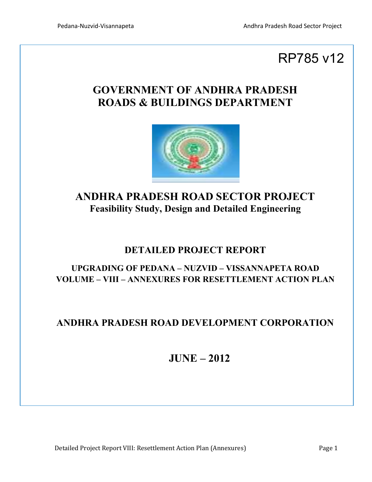 GOVERNMENT OF ANDHRA PRADESH ROADS & BUILDINGS
