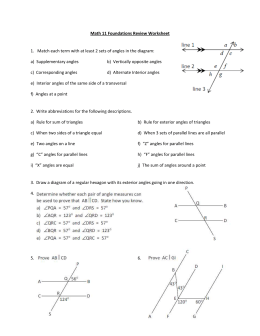Angles and Triangles Unit Review 2