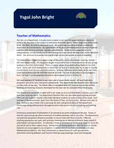 Ysgol John Bright Teacher of Mathematics