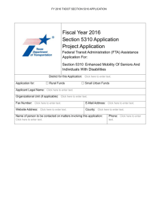 FY 2015 Section 5310 Application Program District Supplement