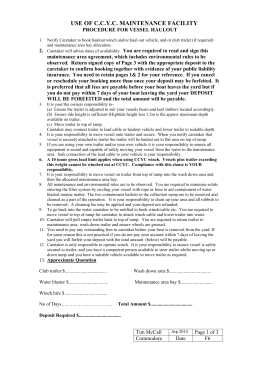 Vessel Haul-out - Work Area Agreement