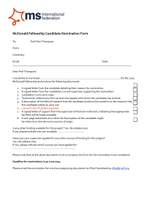 McDonald Fellowship candidate nomination form (Microsoft Word