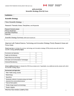 Application Form Part B