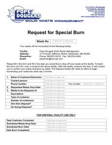 Request to Burn Form - Pope/Douglas Solid Waste