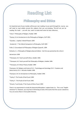Philosophy and Ethics 2 of 2