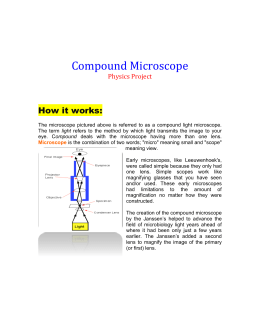 Compound Microscope [PROJECT]
