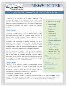 Read our Newsletter - Haughmond View Medical Practice
