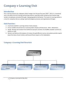 Company e Learning Unit Structure