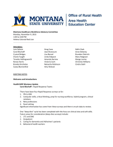 Meeting Minutes - Montana AHEC and Office of Rural Health