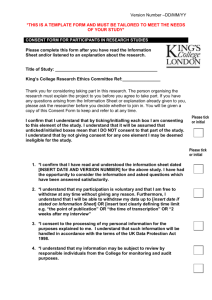 Consent Form - Template