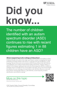 The number of children identified with an autism spectrum disorder