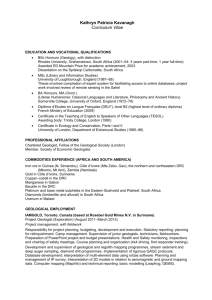 Curriculum Vitae - The Geological Society