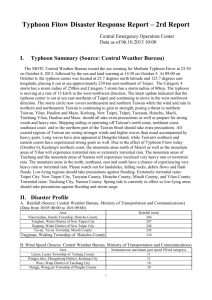 Typhoon Fitow Disaster Response Report * 2rd Report