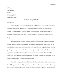 the death of edgar allan poe expository writing assignment due 5th period group essay